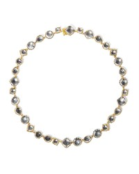 Larkspur And Hawk Small Sadie Riviere Necklace In Gray Foil