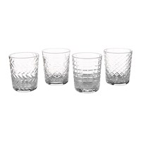 Pols Potten Clear Cuttings Glass Tumblers Set Of 4