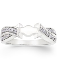 Macy's Create Your Ring Diamond Twist Ring Base 1 4 Ct. T.W. In 14K White Gold