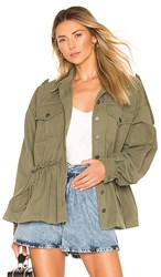Marissa Webb Marshall Jacket In Army. Military Green