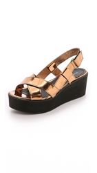 Won Hundred Saga Low Flatform Sandals Copper