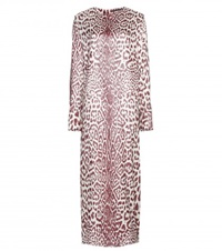 Haider Ackermann Leopard Print Silk Blend Dress Red