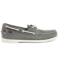 Sebago Docksides Grey Leather Boat Shoes