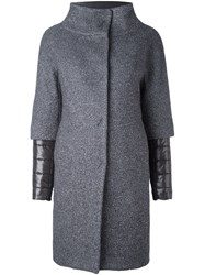 Herno Double Layered Padded Coat Grey