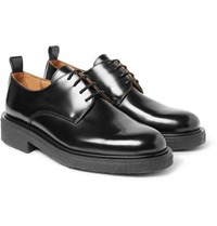 Ami Alexandre Mattiussi Glossed Leather Derby Shoes Black