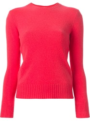 Polo Ralph Lauren Crew Neck Sweater Pink And Purple