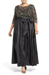 Alex Evenings Plus Size Women's Sequin Embroidered Gown