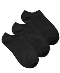 Charter Club Women's 3 Pk. Solid Low Cut Socks Black
