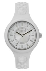 Versus By Versace Fire Island Silicone Strap Watch 39Mm White Black