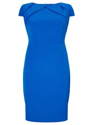 Adrianna Papell Sheath Dress With Origami Neckline Blue