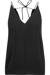 Dion Lee Draped Open Back Crepe Camisole Black