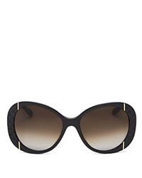 Moschino Oversized Quilted Sunglasses 56Mm Black Gradient Lens