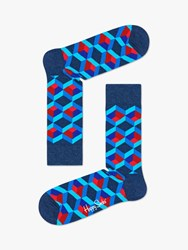 Happy Socks Optic Square One Size Blue Red