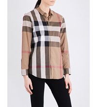 Burberry Core Checked Cotton Shirt Taupe