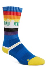 Strideline 'Denver Rainbow' Socks Blue Yellow