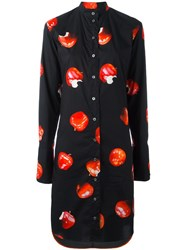 Paul Smith Cherry Print Dress Black