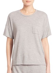 Stateside Heathered French Terry Tee Heather Grey