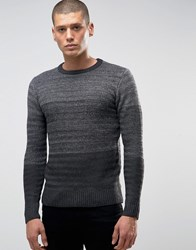 Another Influence Panel Knit Jumper Grey