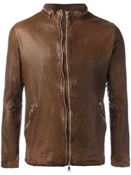 Giorgio Brato Classic Leather Jacket Brown