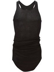 Rick Owens Curved Hem Tank Top Black