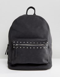Pieces Studded Backpack Black