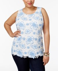 Charter Club Plus Size Lace Tank Top Only At Macy's Cloud