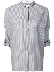 Brunello Cucinelli Striped Shirt Grey