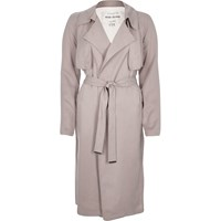 River Island Womens Pink Lightweight Trench Coat