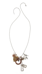 Rodarte Mixed Charm Necklace Silver