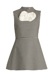 A.W.A.K.E. Jellychess Gingham Sleeveless Top Black White
