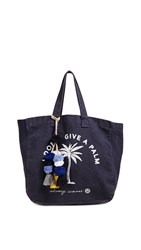 Sundry I Don't Give A Palm Tote Navy