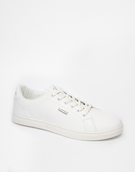 Voi Jeans Leather Look Plimsolls White