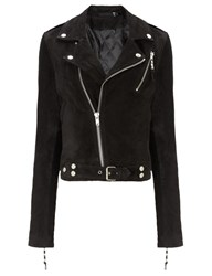 Blk Dnm Black Suede Cropped Jacket 1