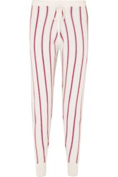 Madeleine Thompson Ustica Striped Cashmere Track Pants Cream
