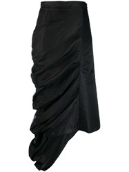 Y Project Ruched Asymmetric Skirt Black