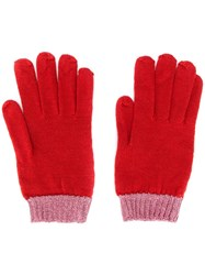 Missoni Two Tone Gloves Red