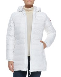 Canada Goose Camp Hooded Mid Length Puffer Coat White