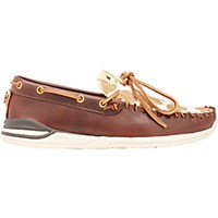 Visvim Men's Yucca Moc Boat Shoes Brown Size 6 M