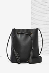 Nasty Gal Paradigm Vegan Leather Bucket Bag Black