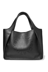 Stella Mccartney Perforated Faux Leather Tote Black
