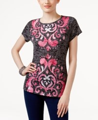 Inc International Concepts Embellished Burnout T Shirt Only At Macy's Harmonic Crest