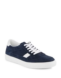 Kenneth Cole Reaction Highroad Leather Sneakers Navy