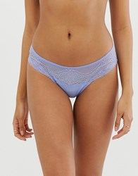 Vanity Fair French Lace Boxer Blue