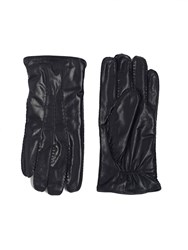 Paul Costelloe Black Fine Stitched Goat Leather Gloves