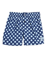 Psycho Bunny Polka Dot Cotton Boxer Shorts Navy