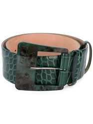 Max Mara Staffa Belt Women Leather L Green