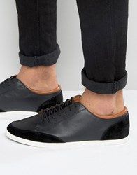 Aldo Somplago Trainers In Black Leather Black