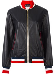 Michel Klein Bomber Jacket Blue