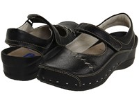Wolky Strap Cloggy Black Clog Shoes