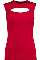 Bailey 44 Cutout Stretch Jersey Tank Red